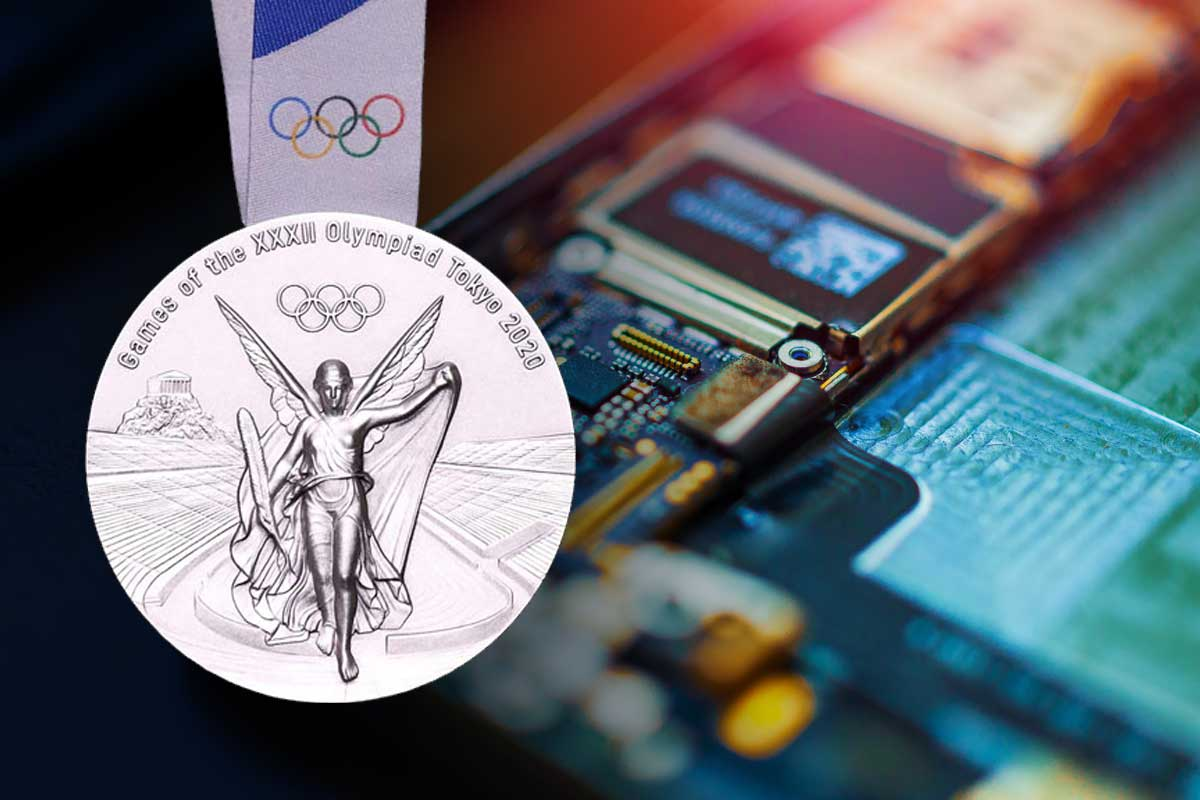 Tokyo 2020 medals to be made from recycled mobiles phones