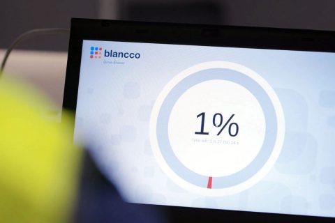 Technician using blancco