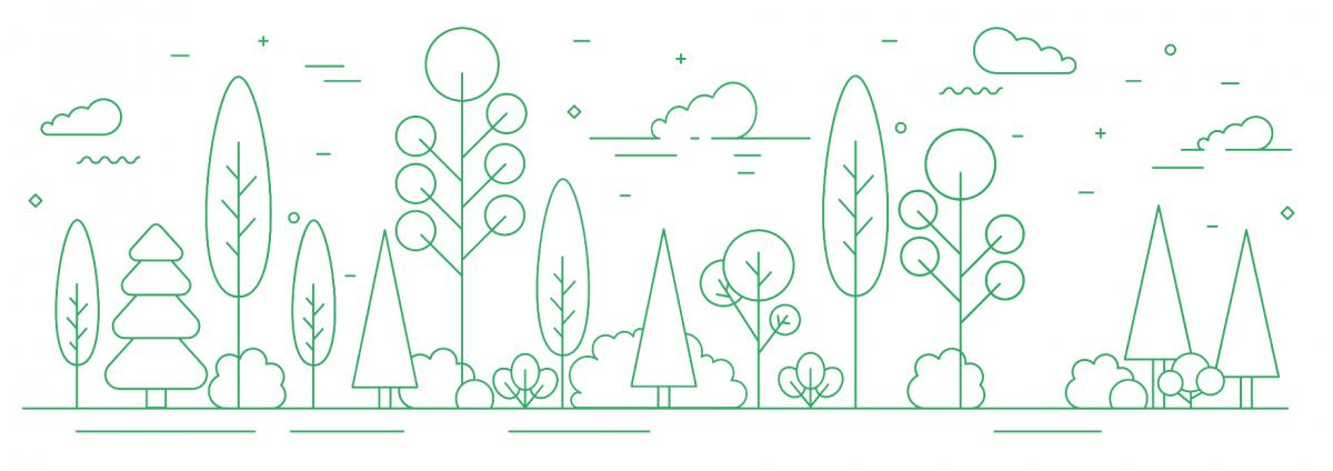 green tree design