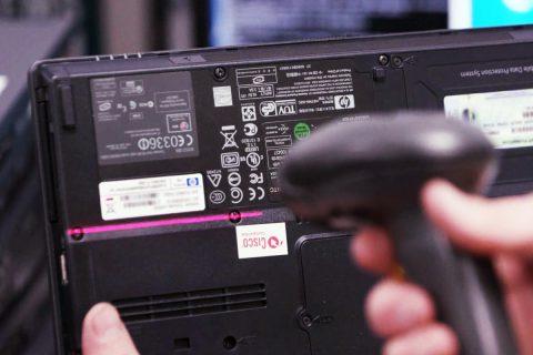 Technician RFID scanning base unit