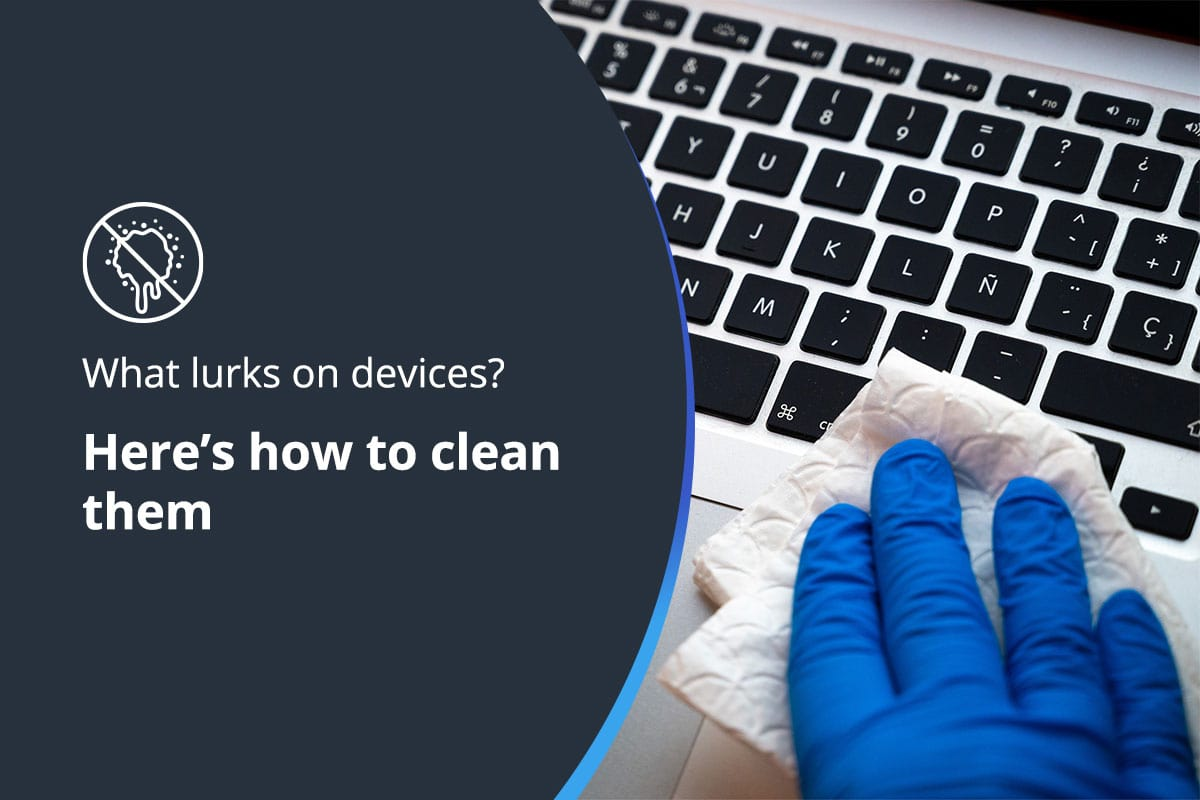 How to clean devices header