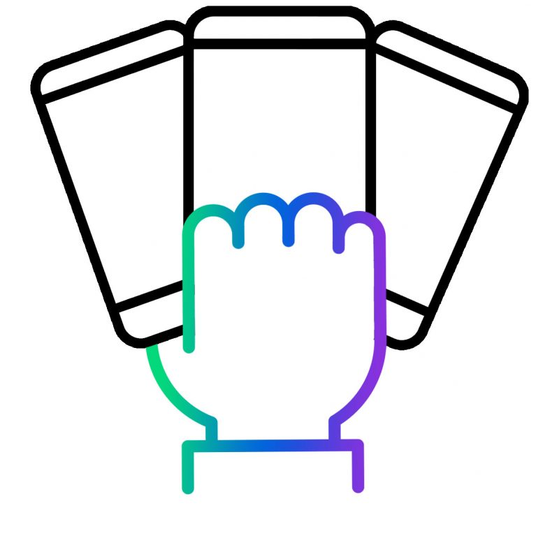Hand holding 3 phones